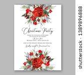 christmas party invitation... | Shutterstock .eps vector #1389896888