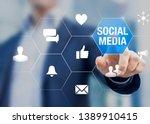social media network community... | Shutterstock . vector #1389910415