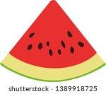 slice of watermelon. lobule...   Shutterstock .eps vector #1389918725