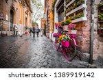 rome  italy   april 4  2019 ...   Shutterstock . vector #1389919142
