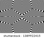 seamless pattern with hypnotic... | Shutterstock .eps vector #1389922415