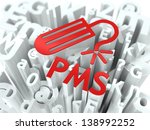 red pms  premenstrual  syndrome ... | Shutterstock . vector #138992252