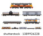vector eps10   set of freight... | Shutterstock .eps vector #1389926228