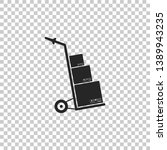 hand truck and boxes icon... | Shutterstock . vector #1389943235
