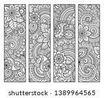 bookmark for book   coloring....   Shutterstock .eps vector #1389964565