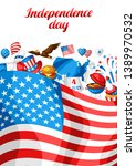 fourth of july independence day ... | Shutterstock .eps vector #1389970532