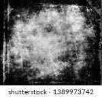 dark grunge obsolete texture ... | Shutterstock . vector #1389973742