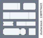 white ticket mockups. concert... | Shutterstock .eps vector #1389974615