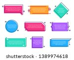 texting boxes. colored quote... | Shutterstock .eps vector #1389974618