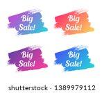 big sale color promo lettering. ... | Shutterstock .eps vector #1389979112