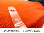 knitted or woven garment in... | Shutterstock . vector #1389981602