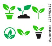 green plant and leave color... | Shutterstock .eps vector #1389983612