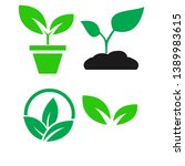 green plant and leave color...   Shutterstock .eps vector #1389983615