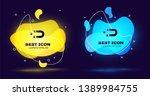 black customer attracting icon... | Shutterstock .eps vector #1389984755