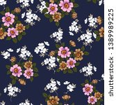 all over seamless floral...   Shutterstock .eps vector #1389989225