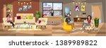 office building interior.... | Shutterstock .eps vector #1389989822