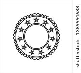stars in circle design vector... | Shutterstock .eps vector #1389994688