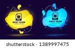 black eml file document icon....   Shutterstock .eps vector #1389997475