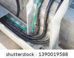 power cables and ground... | Shutterstock . vector #1390019588