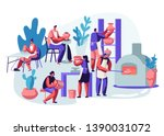 characters making and... | Shutterstock .eps vector #1390031072