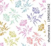 pastel stencil vector seamless... | Shutterstock .eps vector #1390031342