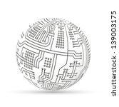 circuit ball | Shutterstock .eps vector #139003175