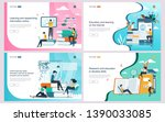 set of flat design concept... | Shutterstock .eps vector #1390033085