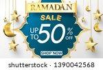 eid mubarak or ramadan kareem... | Shutterstock .eps vector #1390042568