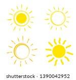 flat sun icon. sun pictogram.... | Shutterstock .eps vector #1390042952