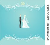 wedding card | Shutterstock .eps vector #139004366