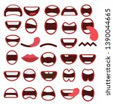 set of mouths icons   vektor | Shutterstock .eps vector #1390044665