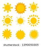 flat sun icon. sun pictogram.... | Shutterstock .eps vector #1390050305