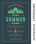 kids summer camp poster or... | Shutterstock .eps vector #1390056485
