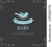 welcome baby card design.... | Shutterstock .eps vector #139006976