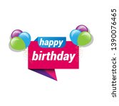 happy birthday banner. banner... | Shutterstock .eps vector #1390076465