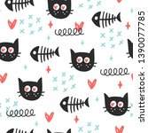 seamless doodle cute pattern....   Shutterstock .eps vector #1390077785