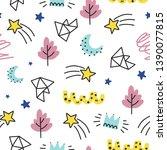 seamless doodle summer pattern. ...   Shutterstock .eps vector #1390077815