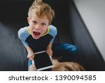 computer addiction   father... | Shutterstock . vector #1390094585
