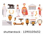 traditional cultural symbols of ... | Shutterstock .eps vector #1390105652