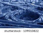 shanghai night  viaduct road...   Shutterstock . vector #139010822