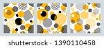 three geometric seamless...   Shutterstock .eps vector #1390110458