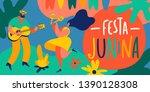 festa junina brazil june...   Shutterstock .eps vector #1390128308