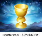 A Holy Grail Cup Gold Chalice...
