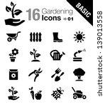 basic   gardening icons  | Shutterstock .eps vector #139013558