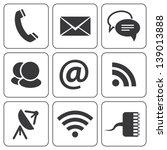 set of modern communication... | Shutterstock .eps vector #139013888