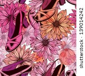 women's shoes and flowers  ... | Shutterstock .eps vector #139014242