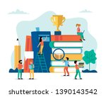 learning  small people... | Shutterstock .eps vector #1390143542