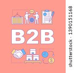 b2b word concepts banner....