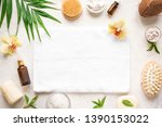spa background  composition ... | Shutterstock . vector #1390153022