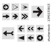 arrow back and right icon set... | Shutterstock .eps vector #1390155815